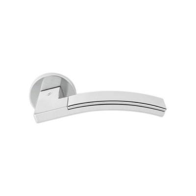 Дверная ручка Colombo TRAMA LC71R хром матовый/хром