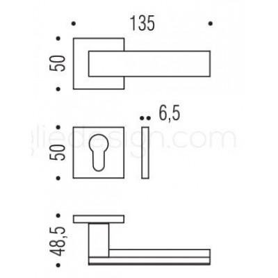 Дверная ручка Colombo ALBA LC91RSB графит матовый/графит