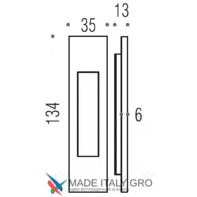Ручка Colombo ID411 для раздвижной двери винтаж матовый