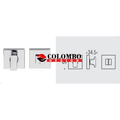 Фиксатор сантехнический Colombo Rosetta MM29 BZG черный матовый