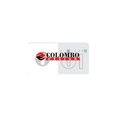 Накладка под цилиндр Colombo Rosetta CD43 GB хром матовый