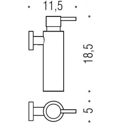 Дозатор COLOMBO DESIGN PLUS W4981.NM настенный