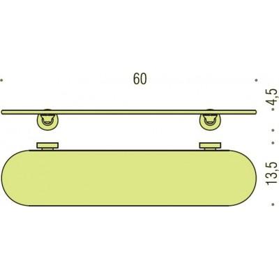 Полочка COLOMBO DESIGN BASIC B2716 стеклянная