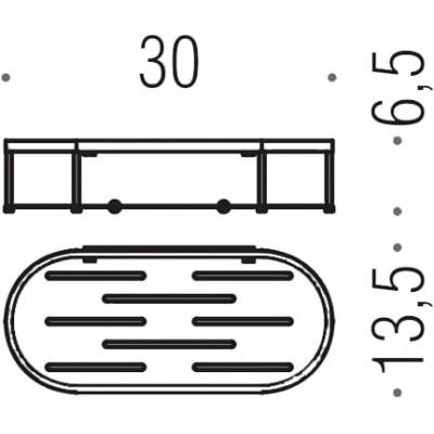 Полочка корзинка COLOMBO DESIGN ANGOLARI B9641 одинарная съемная