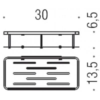Полочка корзинка COLOMBO DESIGN ANGOLARI B9640 одинарная съемная